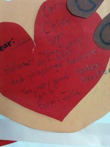 A Valentine written by a Korean student