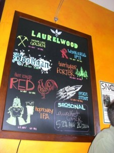The Laurelwood menu
