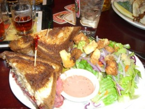 A delicious Reuben sandwich at the Widmer Brewery