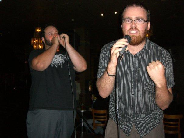 Singing some Tenacious D at Shark Hotel in Sydney