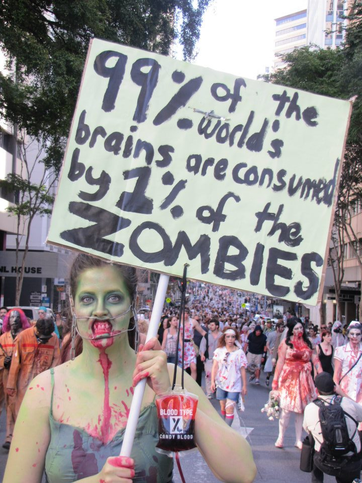 99% of the world's brains are consumed by 1% of the zombies