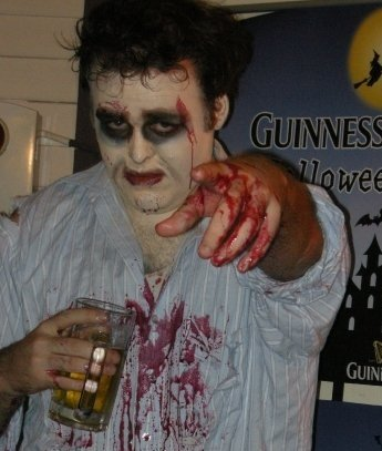 Dressed as a zombie for 2008 Halloween