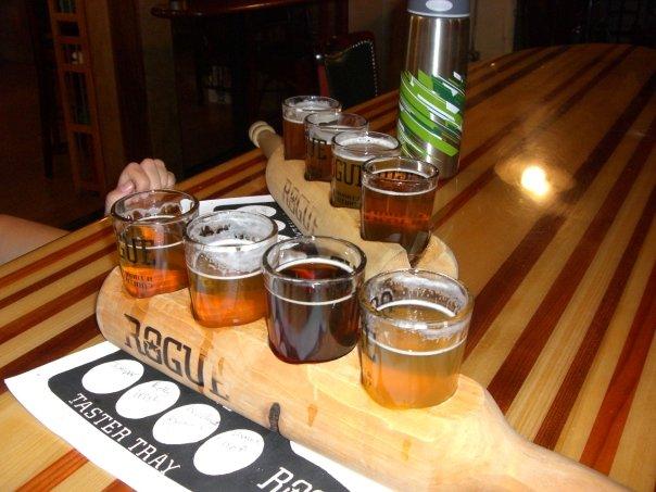 Beers at the Laurelwood in Portland, Oregon