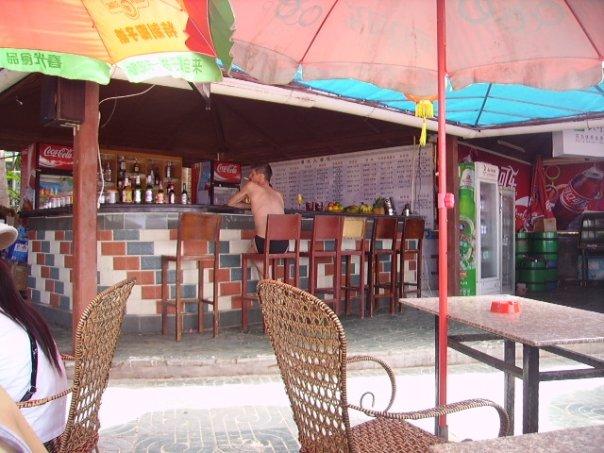 A Russian man at a bar in Sanya, Hainan, China