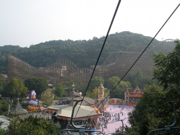 A view of the T Express from the chair-lift