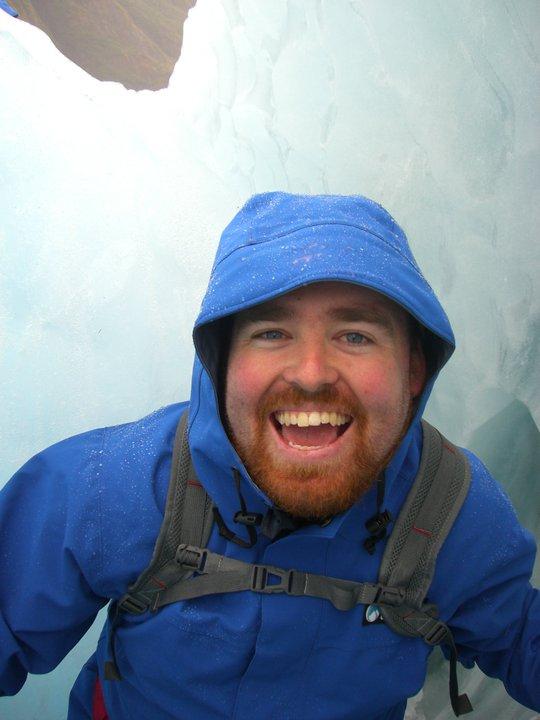 Deliriously happy on Franz Josef Glacier