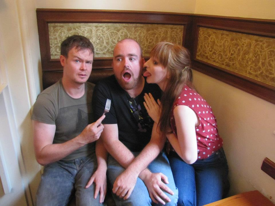 David is less than impressed at his fiance's bold choice of goodbyes.