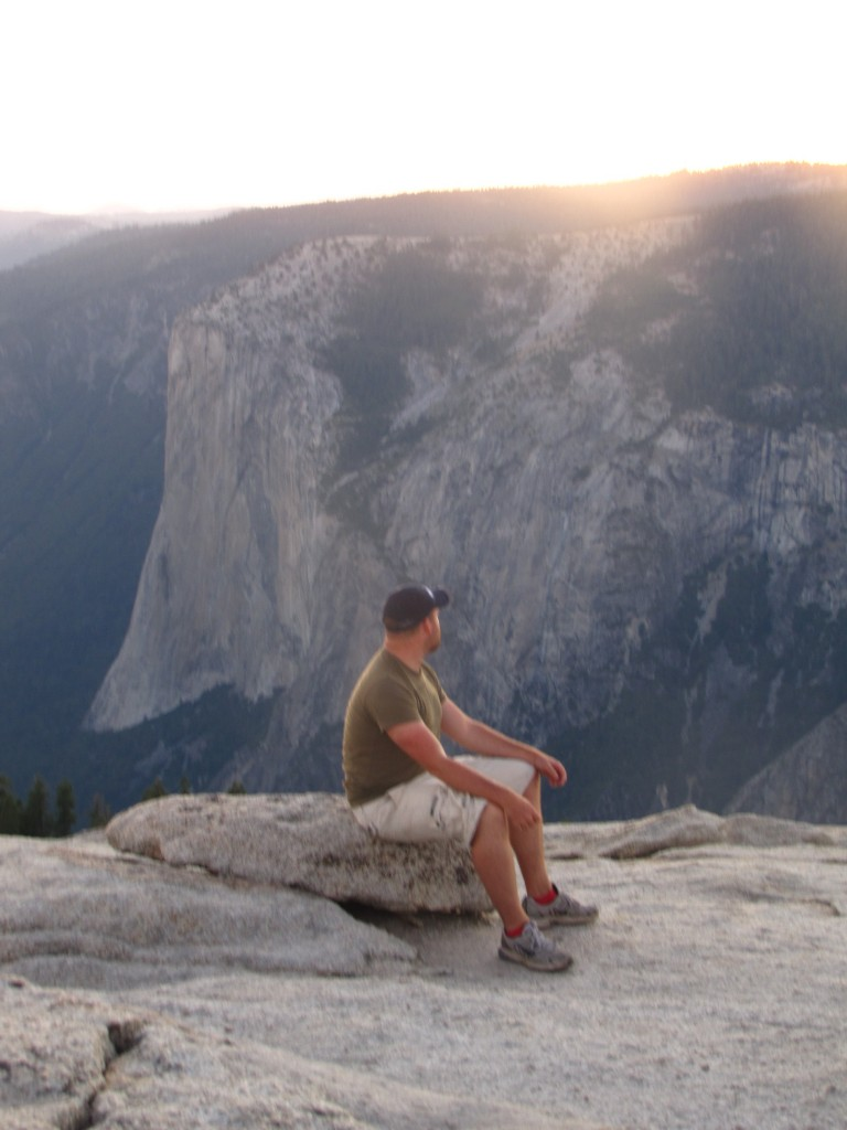 Taking in the sunset atop Sentinel Dome in Yosemite National Park