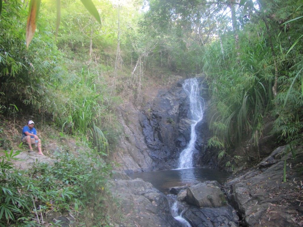 An isolated waterfall near El Nido. A perfect place for a bit of quiet reflection.