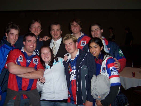 A much younger (and chubbier) Aussie on the Road once spent a year running the Newcastle Knights supporters group.