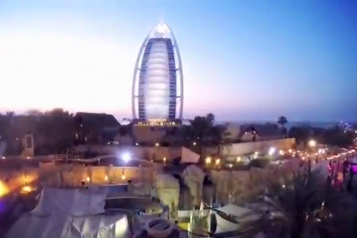 Quite a view from atop the Jumeirah Sceirah!