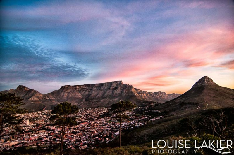 Sunset table mountain south africa