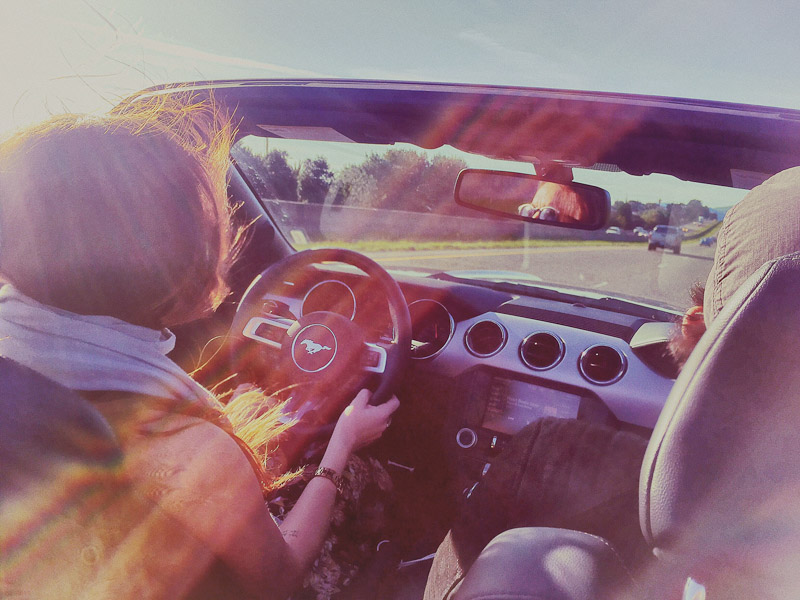 pretty girl road trip