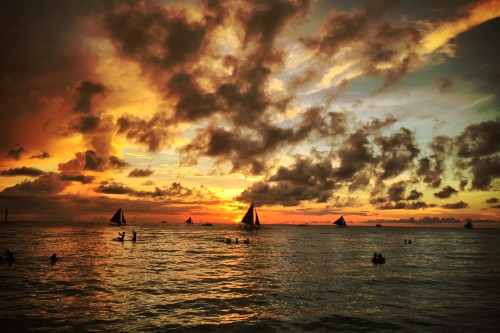 boracay sunset sailing