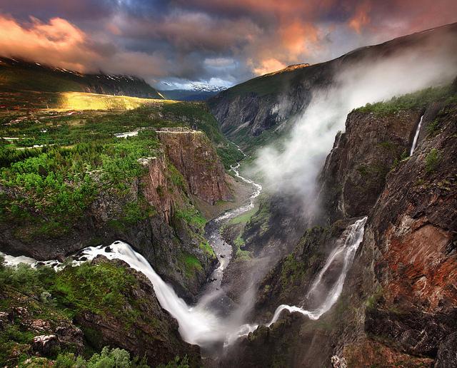 voringfossen waterfall norway