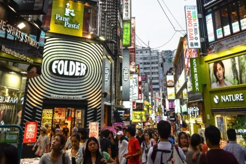 K Myeongdong Shopping Street in Seoul